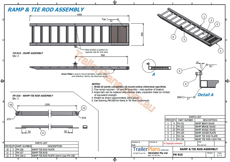 3500 Flatbed Trailer - Trailer plans - designs and drawings