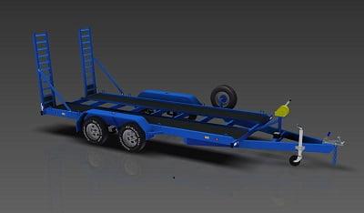 3500kg flatbed car trailer plans www.trailerplans.com.au