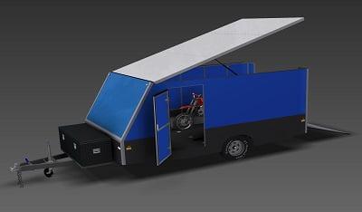 4m enclosed motorbike trailer plans www.trailerplans.com.au