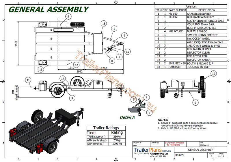 boat trailer suspension diagrams