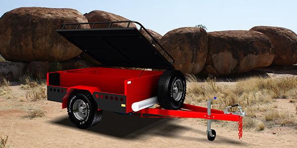 off road trailer camper trailer trailerplans.com.au