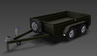 tandem box trailer plans www.trailerplans.com.au