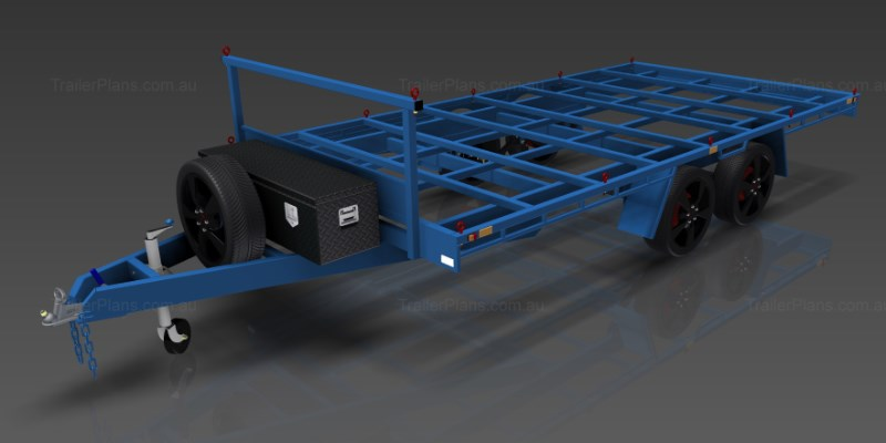 Flat Top Wide Bed Trailer