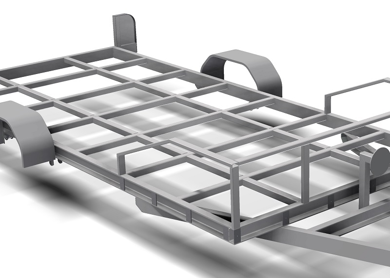 Single Axle Flatbed 2200 Trailer Plans