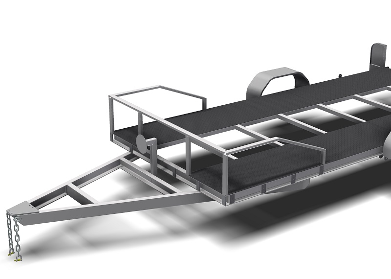 Single Axle Flatbed Car Trailer Plans