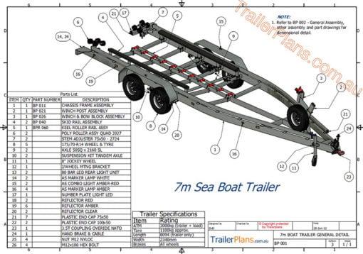 boat trailer plans www.trailerplans.com.au