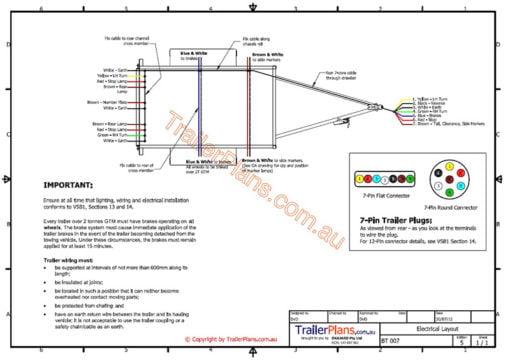 electrical trailer wiring trailer plans www.trailerplans.com.au