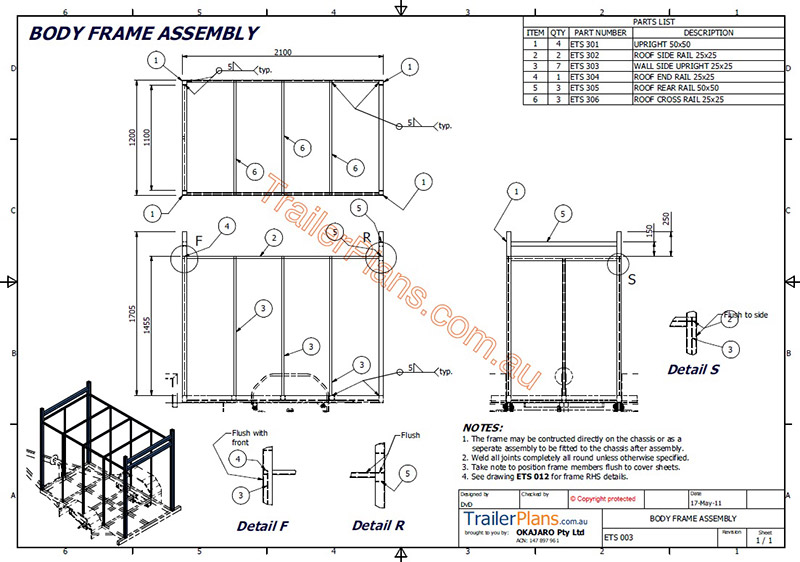 Enclosed trailer plan drawings assembly guide pictures enclosed trailer plans trailerplans malvernweather Gallery
