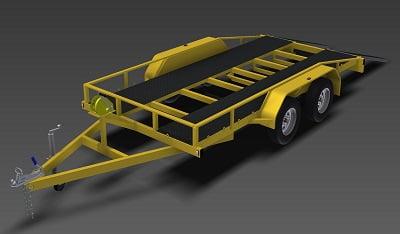 2500kg flatbed car trailer plans www.trailerplans.com.au