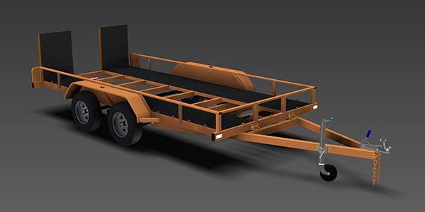 flatbed tilt trailer plans car carrier www.trailerplans.com.au