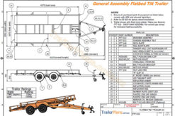 flatbed tilt trailer plans car carrier www.trailerplans.com.au
