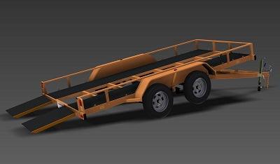 flatbed tilt car trailer plans www.trailerplans.com.au