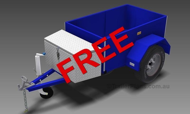 free box trailer plan www.trailerplans.com.au
