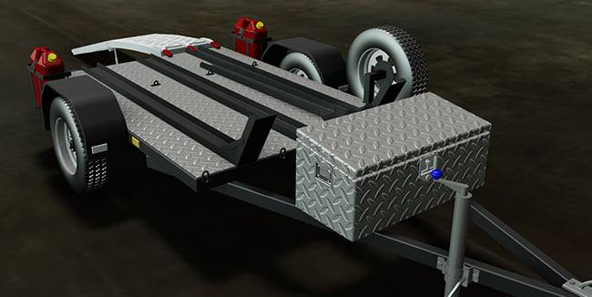 Boat Trailer Brakes >> Motorbike Trailer - Trailer Plans