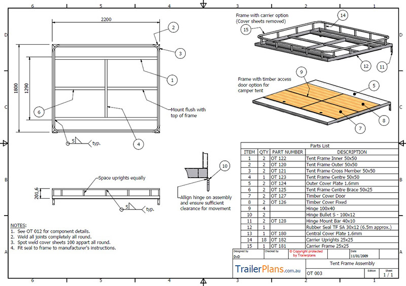Off road camper trailer plans plans designs and drawings for Rv blueprints