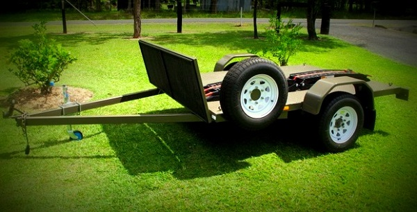 how to build a motorbike trailer