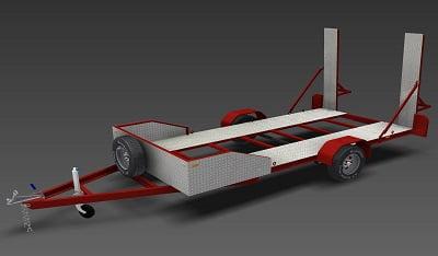 single axle flatbed car trailer plans www.trailerplans.com.au