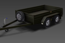 tandem box trailer plans www.trailerplans.com.au
