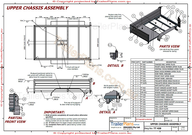 Custom trailer designs trailer plans custom trailer plans tipping trailer plans trailerplans malvernweather Gallery