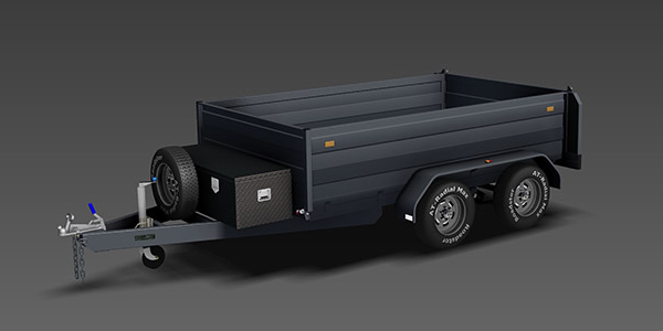 3400kg hydraulic tipping trailer plans www.trailerplans.com.au