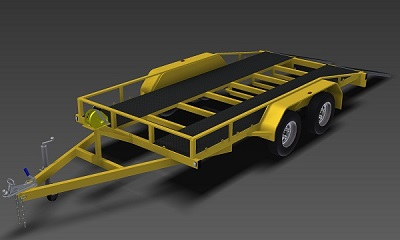 2500kg Flatbed Trailer plans www.trailerplans.com.au