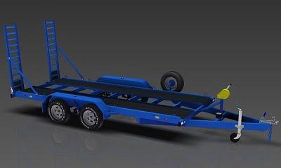 3500kg Flatbed Trailer plan www.trailerplans.com.au