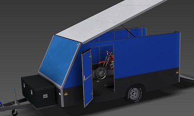 4m Enclosed Motorbike Trailer plans www.trailerplans.com.au
