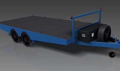 4.8m Flat Top Trailer plans www.trailerplans.com.au