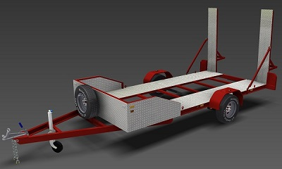 2200kg Single Axle Flatbed Trailer plans www.trailerplans.com.au