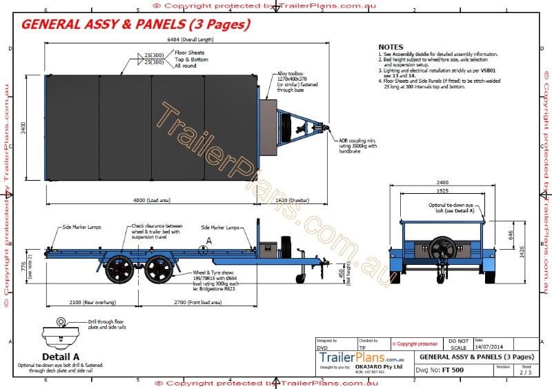 4 8m Flat Top Trailer Plan