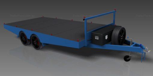 4.8m flat top trailer plans www.trailerplans.com.au
