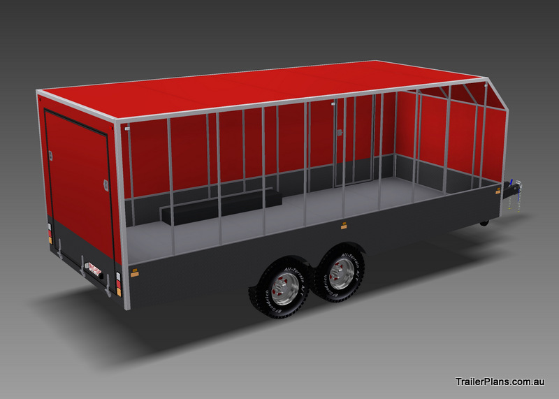 enclosed trailer plan car carrier www.trailerplans.com.au