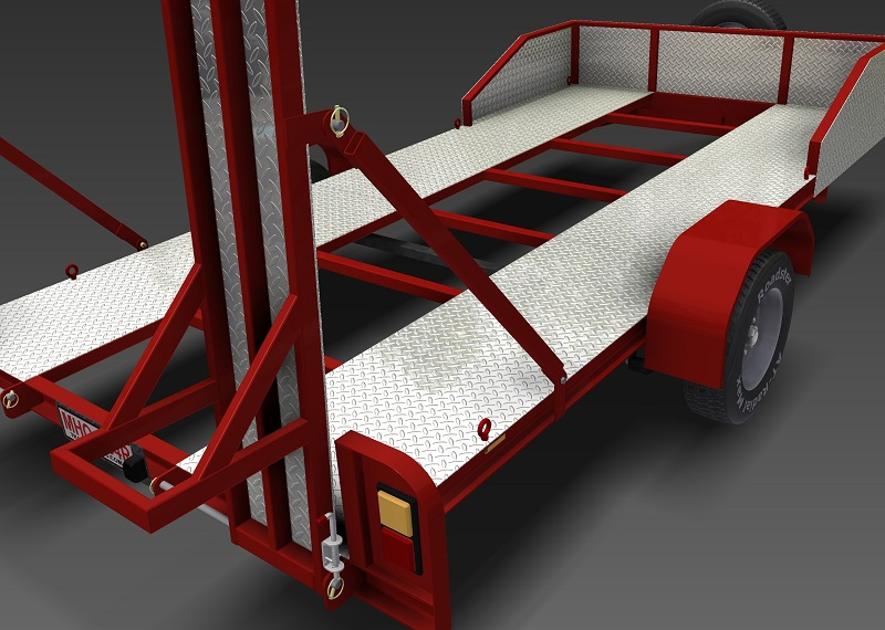 Single Axle Trailer Plans : Single axle flatbed kg trailer plans