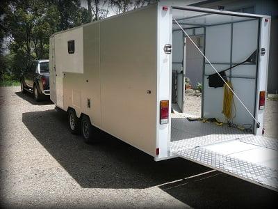 Bruces base station enclosed trailer plans www.trailerplans.com.au