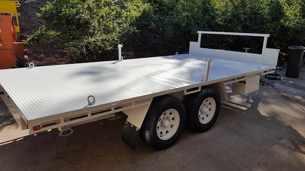 Bens Flat Top Wide Bed Trailer www.trailerplans.com.au trailer plans
