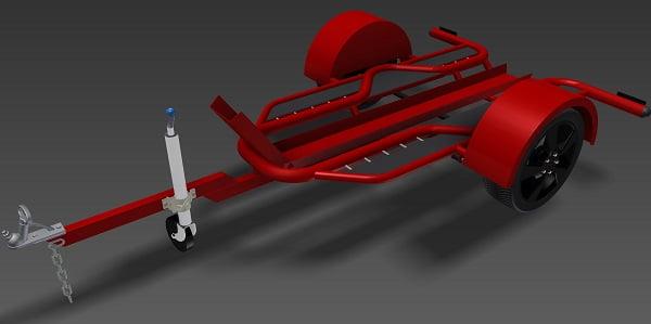 Single Motorbike Trailer Plans www.trailerplans.com.au