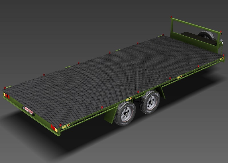 6m Flat Top Trailer Plans Flatbed Trailer Car Trailer www.trailerplans.com.au