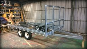Trailer Plans Flat Top Wide Bed Trailer www.trailerplans.com.au