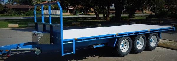 TRAILER PLANS Tri-Axle Flatbed Trailer www.trailerplans.com.au