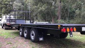 Trailer Plans Trailer Build Tri-Axle Trailer Flatbed Trailer www.trailerplans.com.au