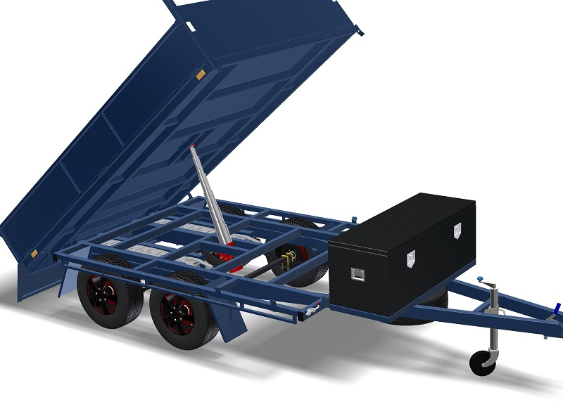 Toy Hauler Tipper Trailer Plans Flatbed Trailer Box Trailer Tipping Trailer www.trailerplans.com.au