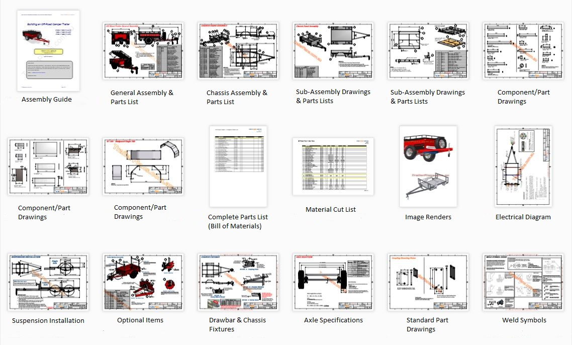 Trailer Plans Premium Trailer Designs Plans Drawings And Compliance