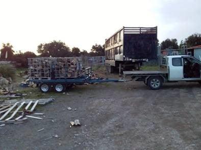 TRAILER PLANS Brooklyns 3.2m Toy Hauler Tipper Trailer Build www.trailerplans.com (3)