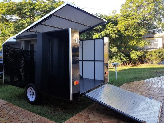 TRAILER PLANS Aarons 4m Enclosed Motorbike Trailer Build www.trailerplans.com
