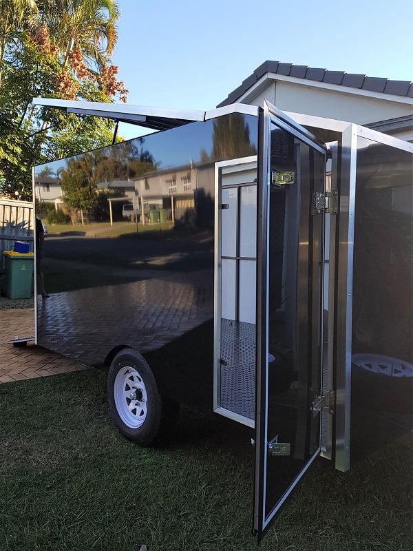 TRAILER PLANS Aarons 4m Enclosed Motorbike Trailer Build www.trailerplans.com