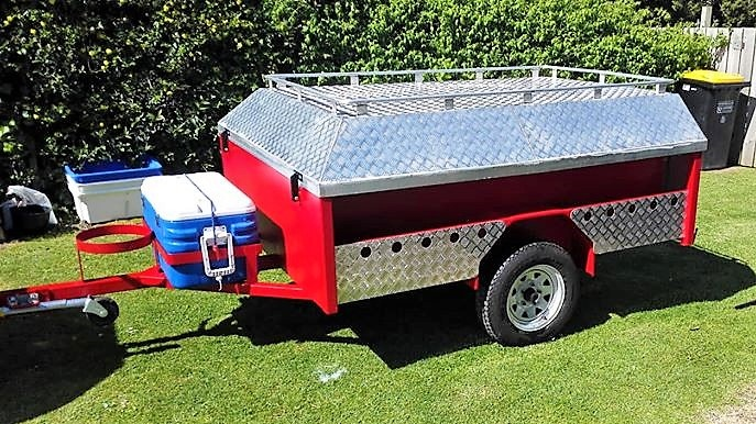 TRAILER PLANS Andres Off Road Camper Trailer Build www.trailerplans.com