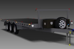 TRAILER PLANS - 4.5T 6m TRI-AXLE FLAT TOP TRAILER www.trailerplans.com.au