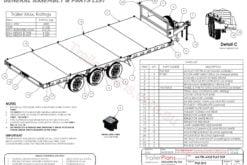 TRAILER PLANS - 4.5T 6m TRI-AXLE FLAT TOP TRAILER www.trailerplans.com.au