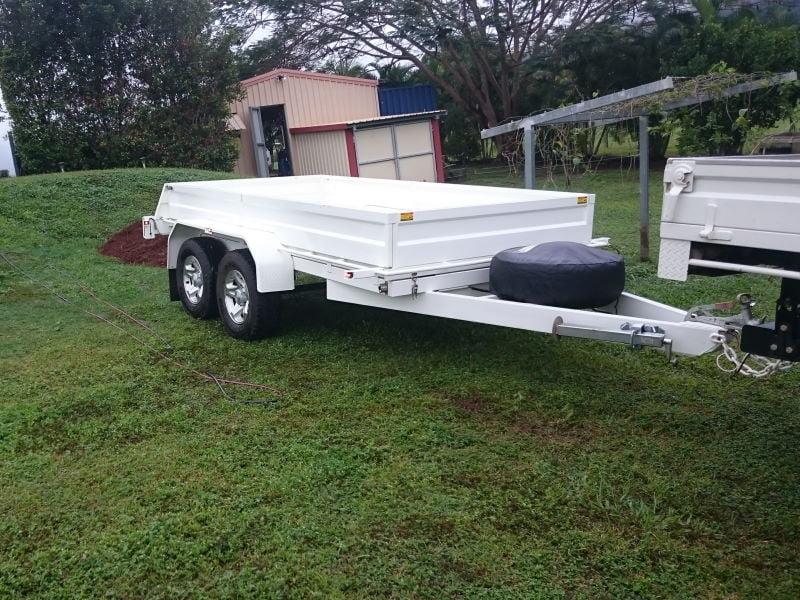 Chris Hydraulic Tipping Trailer Build TRAILER PLANS www.trailerplans.com