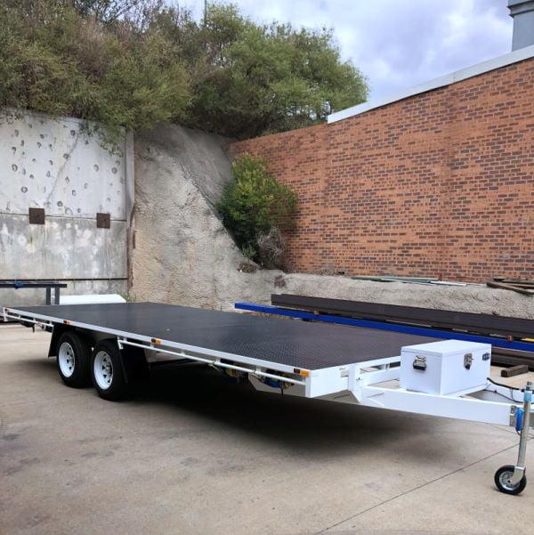 Micks 6m Flat Top Trailer Build TRAILER PLANS www.trailerplans.com